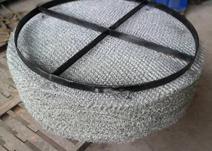 Knitted SS Wire Mesh Mist Eliminator High Misting Efficiency And Embedded Type