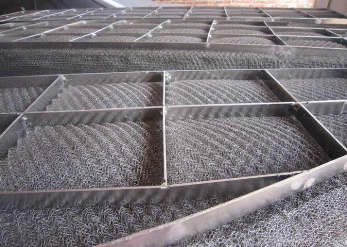 Plastic Material Stainless Steel Wire Mesh Demister Pad Bright Nature Color