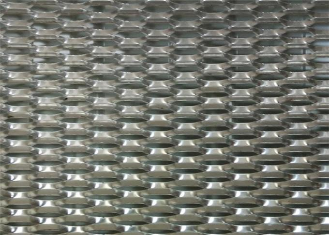 PVC Coated Diamond Aluminium Expanded Mesh With Modern House Design Wallpaper