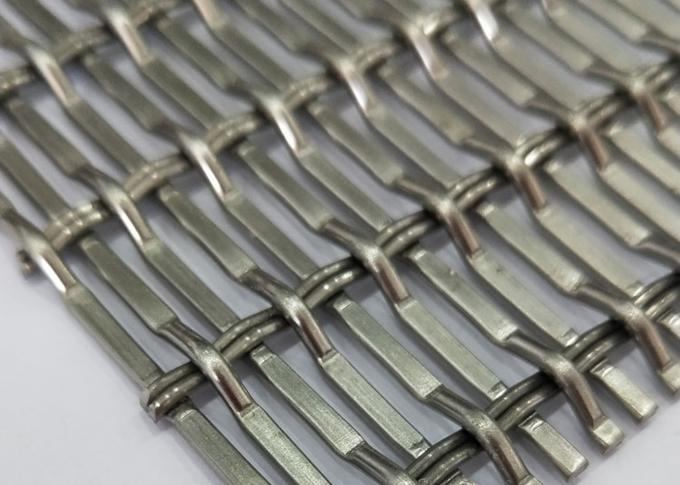 White Steel Crimped Wire Mesh , Plain Weave Mesh Bright Smooth Wear Resistance