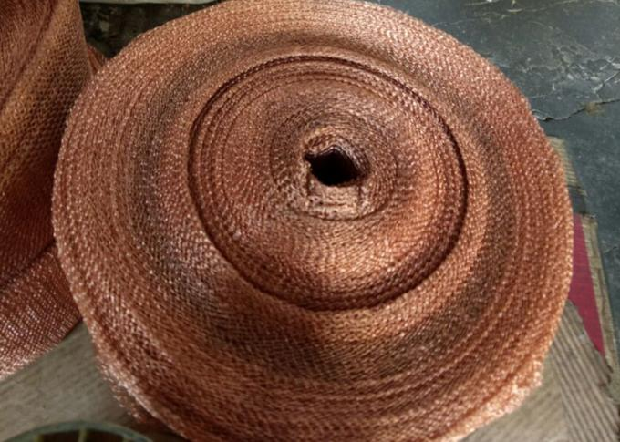 Purple Copper Wire Mesh Customized 4 Line Wire Knitted Netting 10cm Width