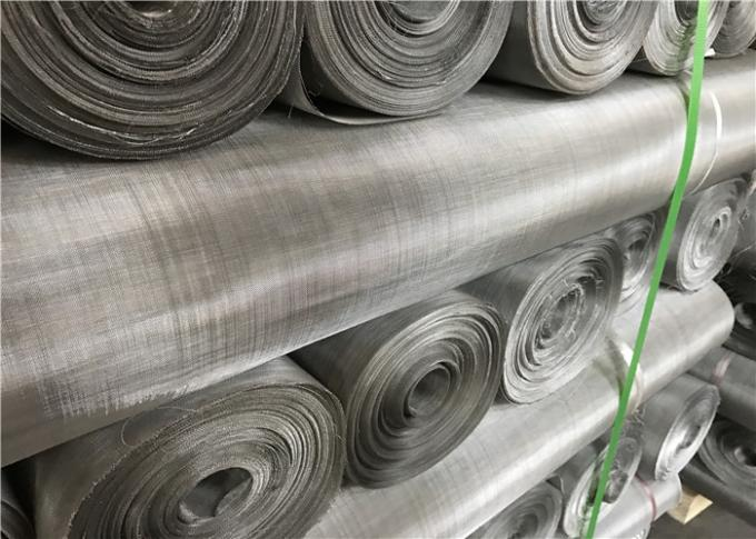 Smooth Stainless Steel Mesh Screen / SS 304 Wire Mesh Alkali Resisting For Filtering