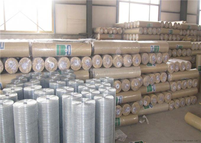 Custom 1X1 Galvanized Welded Wire Mesh For Construction Usage / Poultry Wire Fence