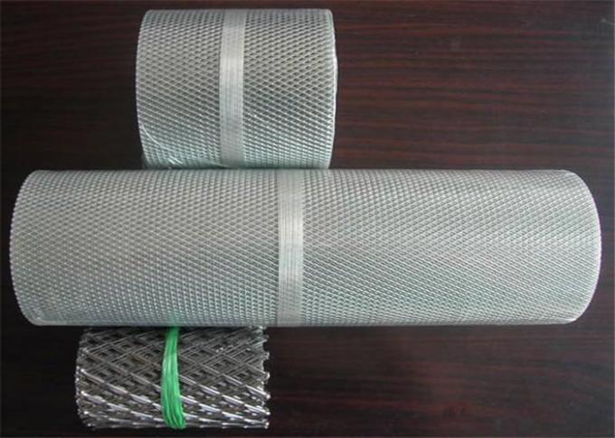 Expanded Aluminum Wire Mesh , Metal Wire Mesh For Building Wall Materials