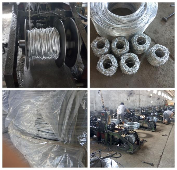 Barbed Wire Galvanized Double Twisted  In Positive And Negative Anti-Theft Barbed Wire Site Development