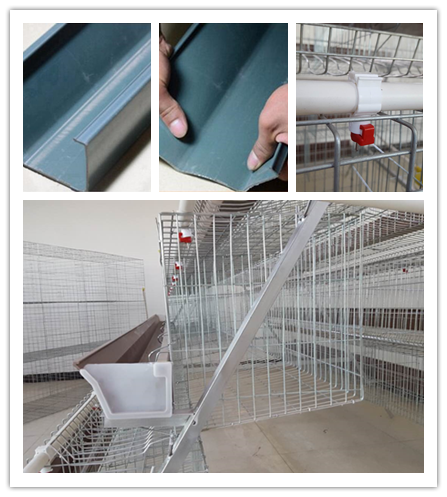 Electric Galvanized 128 Chickens Poultry Cage For Laying Hens , Battery Caged Hens