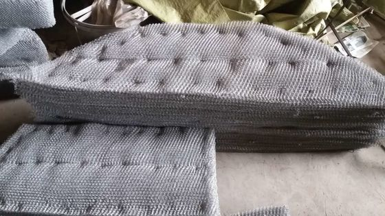 China SS316 Knitted Wire Mesh  Mister Pad For Condensate Flash Separator supplier