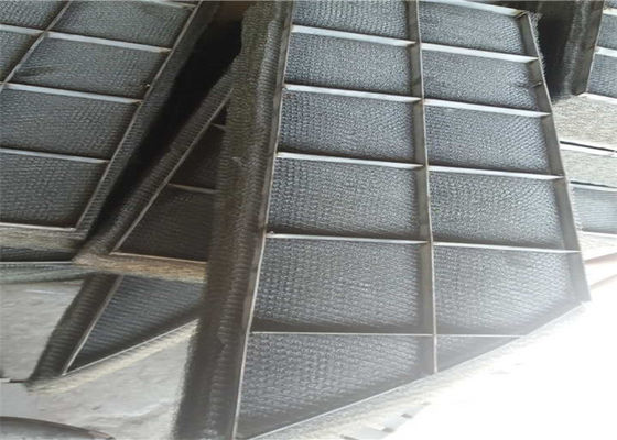 China Stainless Steel Wire Mesh Panels Knitted Demister Pads Gas And Liquid Separation supplier