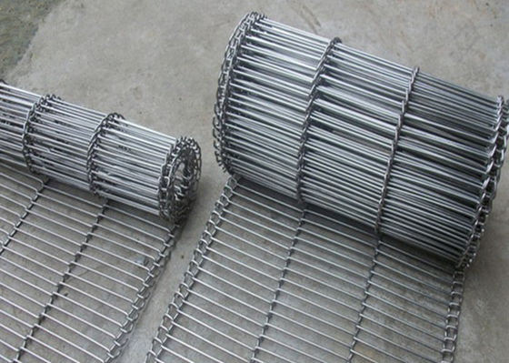 China 1.8 Mm Thickness Flat Wire Mesh Belt SUS 304 With High Temperature Resistance supplier