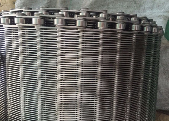 China Stainless Steel Flexible Flat Wire Mesh Conveyor Belt For Bread Industry supplier