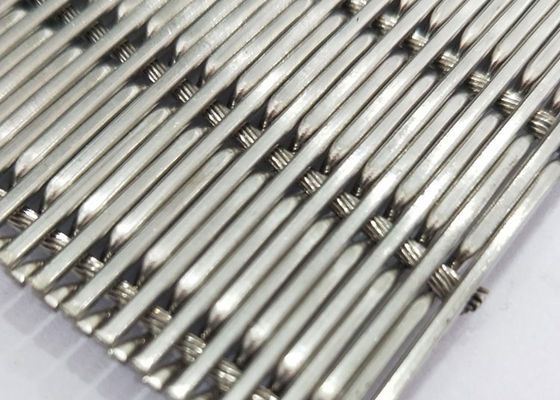 China White Steel Crimped Wire Mesh , Plain Weave Mesh Bright Smooth Wear Resistance supplier