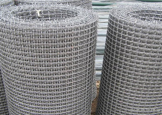 China Custom 304 Stainless Steel Crimped Wire Mesh For Filter Application , 30m Length supplier