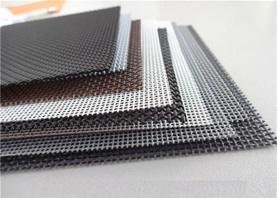 China High Intensity Stainless Steel Insect Screen , Black King Kong Window Screen Mesh supplier