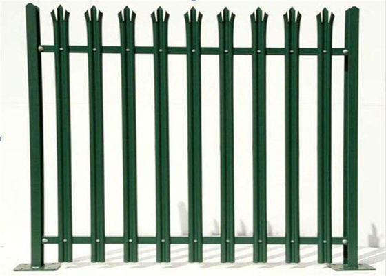 China Durable W Section Green Palisade Fencing , Single Point Road Security Fence supplier
