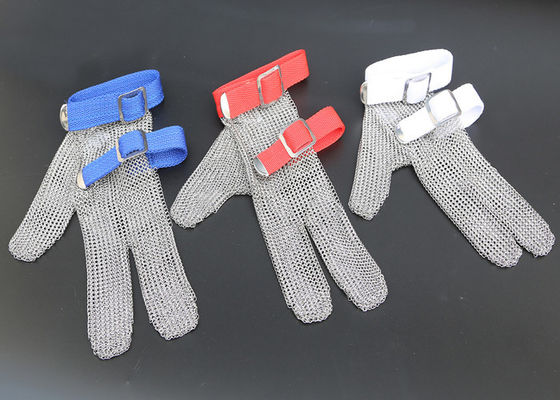 China Safety Protection Stainless Steel Wire Mesh Cut Resistant Gloves Three Fingers supplier