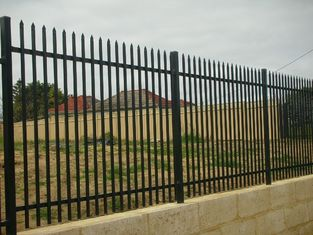 China Community Factory Area Fence Iron Products Zinc Steel Protection Fence Affordable supplier