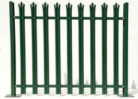 China Durable W Section Green Palisade Fencing , Single Point Road Security Fence factory