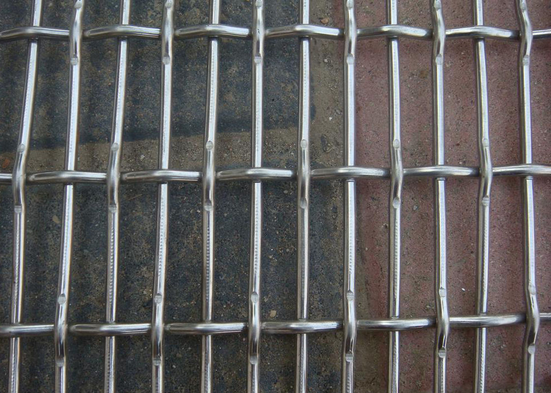 SS 304 Knot Crimped Wire Mesh High Carbon Steel For Building Decorative