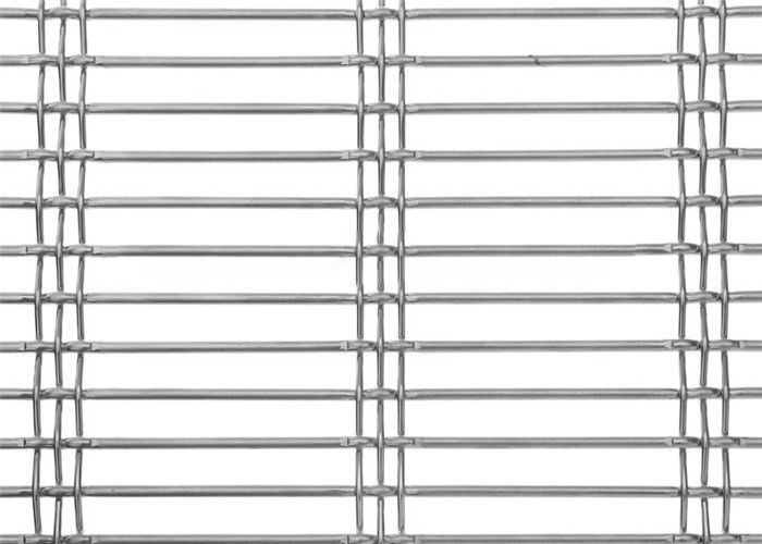 Stainless Steel Crimped Woven Wire Mesh Fence With Square Hole 0.4 -12mm