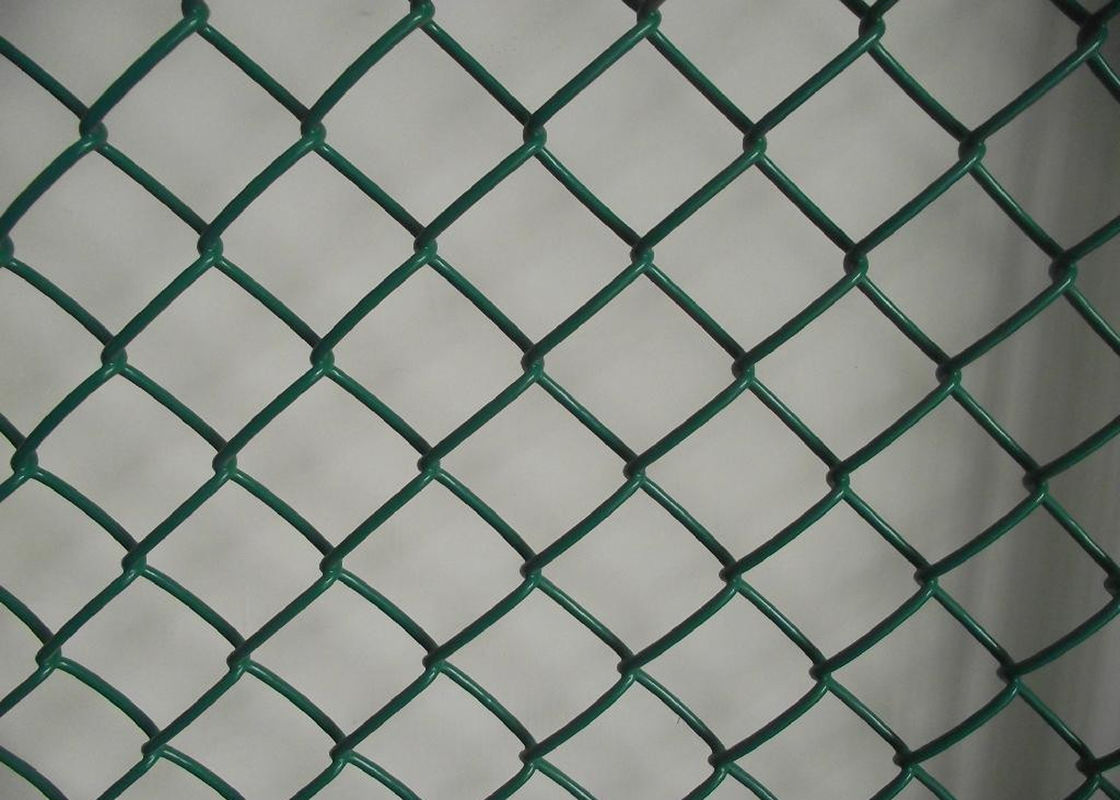 Garden Protect Plastic Wire Mesh / Chain Link Fence PVC Coated Low ...