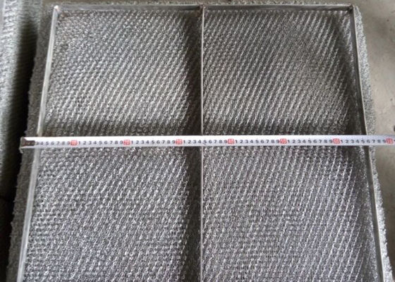 Durable 304 Stainless Steel Wire Mesh Demister Pad With Custom Shapes