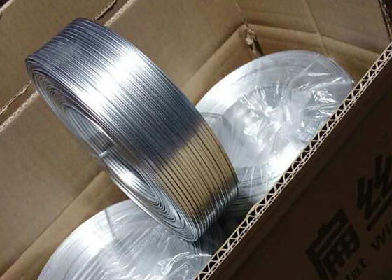 Cooper Coat Galvanized Flat Wire For Stitching / Carton Binding Wire