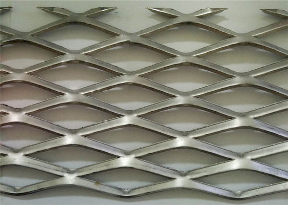 Decoration Diamond Wire Mesh , Aluminum Door Mesh Screen PVC Coated Anodic Oxidation
