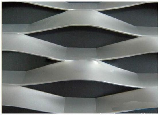 Strech Flatted Expanded Metal Mesh / Grill Wire Mesh 0.3mm - 2mm Thickness